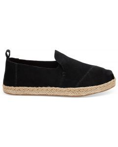 TOMS Deconstructed Alpargata Black Rope Suede