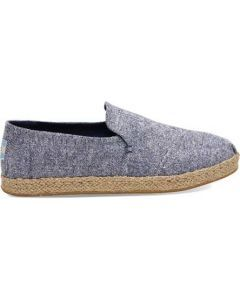 TOMS Deconstructed Alpargata Navy Slub Chambray