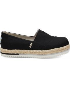 TOMS Plantform Alpargata Black Heritage Canvas