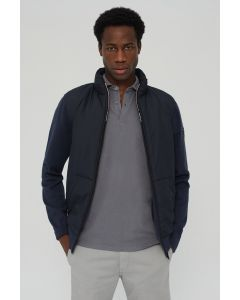ECOALF SUNDOWN HOODIE JACKET KNIT MIX  MIDNIGHT NAVY MEN