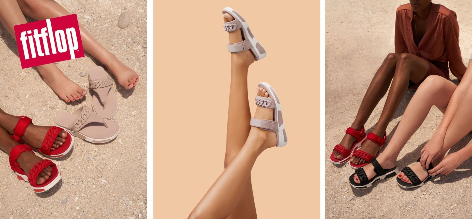 Støtdempende sandaler med god komfort og lekkert design.